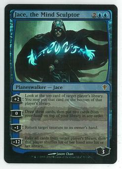 Magic the Gathering Worldwake Single Jace, the Mind Sculptor FOIL - Damaged