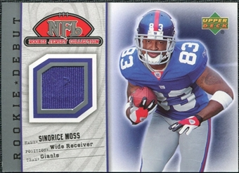 2006 Upper Deck Rookie Debut Rookie Jerseys #87TE  Sinorice Moss