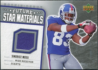 2006 Upper Deck Rookie Debut Future Star Materials Silver #FSMSM Sinorice Moss