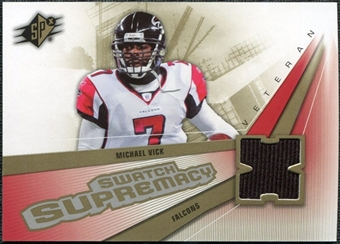 2006 Upper Deck SPx Swatch Supremacy #SWMV Michael Vick