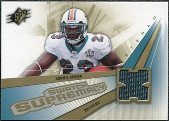 2006 Upper Deck SPx Swatch Supremacy #SWRB Ronnie Brown