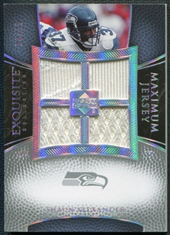 2007 Upper Deck Exquisite Collection Maximum Jersey Silver Spectrum #SA Shaun Alexander 6/15