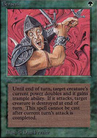 Magic the Gathering Alpha Single Berserk - NEAR MINT (NM)