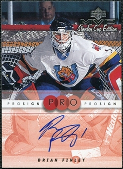 1999/00 Upper Deck MVP Stanley Cup Edition ProSign #BF Brian Finley