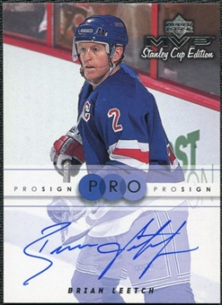 1999/00 Upper Deck MVP Stanley Cup Edition ProSign #BL Brian Leetch Autograph