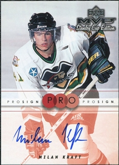 1999/00 Upper Deck MVP Stanley Cup Edition ProSign #MK Milan Kraft