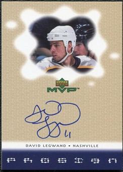2000/01 Upper Deck MVP ProSign #DL David Legwand