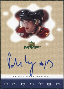 2000/01 Upper Deck MVP ProSign #PS Patrik Stefan