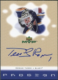 2000/01 Upper Deck MVP ProSign #RT Roman Turek
