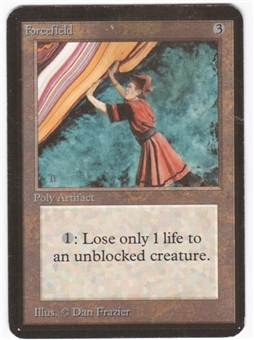 Magic the Gathering Alpha Single Forcefield LIGHT PLAY (NM)