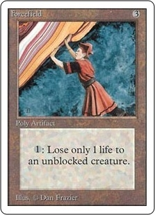 Magic the Gathering Unlimited Single Forcefield - SLIGHT PLAY (SP)