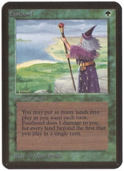 Magic the Gathering Alpha Single Fastbond LIGHT PLAY (NM)