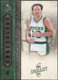 2006/07 Upper Deck Chronology #64 Mike Dunleavy Sr. /199