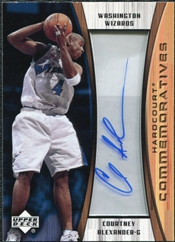 2002/03 Upper Deck Hardcourt Autographs #CAC Courtney Alexander