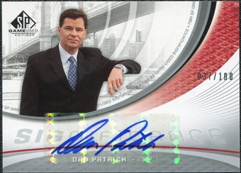 2005/06 Upper Deck SP Game Used SIGnificance #DP Dan Patrick Autograph /100