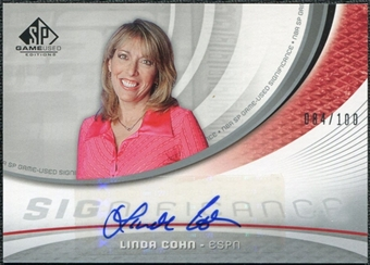 2005/06 Upper Deck SP Game Used SIGnificance #LC Linda Cohn Autograph /100