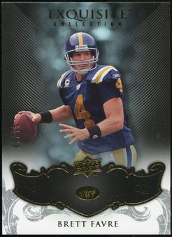 2008 Upper Deck Exquisite Collection #67 Brett Favre /75