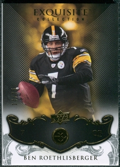 2008 Upper Deck Exquisite Collection #75 Ben Roethlisberger /75