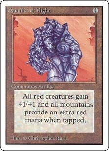 Magic the Gathering Unlimited Single Gauntlet of Might - NEAR MINT (NM)