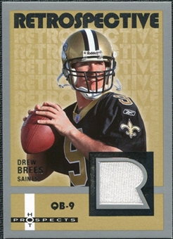 2006 Fleer Hot Prospects Retrospective Jerseys #REDR Drew Brees