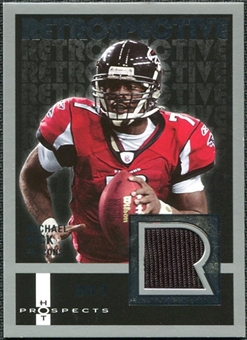 2006 Fleer Hot Prospects Retrospective Jerseys #REMV Michael Vick SP
