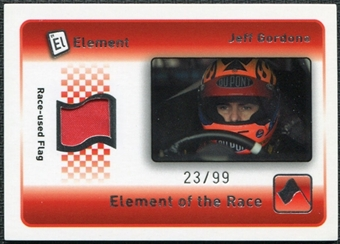 2009 Element Elements of the Race Red Flag #ERRJG Jeff Gordon 23/99