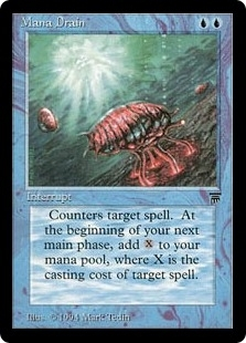 Magic the Gathering Legends Single Mana Drain - SLIGHT PLAY PLAY (SP)