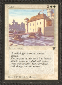 Magic the Gathering Legends Single Moat LIGHT PLAY (NM)