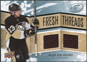 2008/09 Upper Deck Ice Fresh Threads #FTAG Alex Goligoski