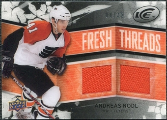 2008/09 Upper Deck Ice Fresh Threads Black Parallel #FTAN Andreas Nodl /25