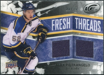 2008/09 Upper Deck Ice Fresh Threads Black Parallel #FTAP Alex Pietrangelo 21/25