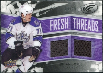 2008/09 Upper Deck Ice Fresh Threads Black Parallel #FTBB Brian Boyle /25