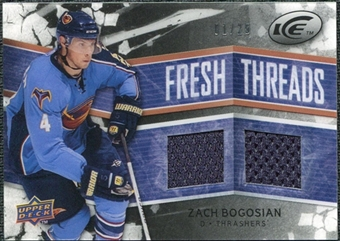 2008/09 Upper Deck Ice Fresh Threads Black Parallel #FTBO Zach Bogosian /25