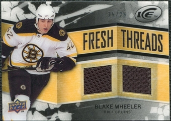 2008/09 Upper Deck Ice Fresh Threads Black Parallel #FTBW Blake Wheeler /25