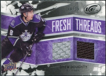 2008/09 Upper Deck Ice Fresh Threads Black Parallel #FTDD Drew Doughty /25