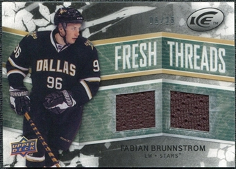 2008/09 Upper Deck Ice Fresh Threads Black Parallel #FTFB Fabian Brunnstrom /25
