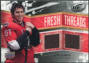 2008/09 Upper Deck Ice Fresh Threads Black Parallel #FTIZ Ilya Zubov /25
