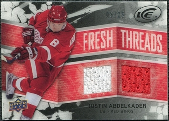 2008/09 Upper Deck Ice Fresh Threads Black Parallel #FTJA Justin Abdelkader /25