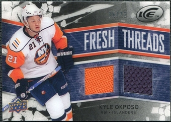 2008/09 Upper Deck Ice Fresh Threads Black Parallel #FTKO Kyle Okposo /25