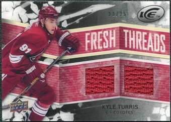 2008/09 Upper Deck Ice Fresh Threads Black Parallel #FTKT Kyle Turris /25