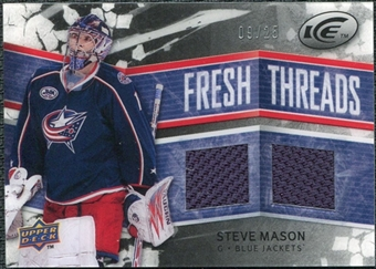 2008/09 Upper Deck Ice Fresh Threads Black Parallel #FTMA Steve Mason /25