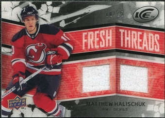 2008/09 Upper Deck Ice Fresh Threads Black Parallel #FTMH Matthew Halischuk /25