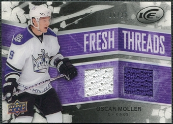 2008/09 Upper Deck Ice Fresh Threads Black Parallel #FTOM Oscar Moller /25