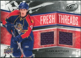 2008/09 Upper Deck Ice Fresh Threads Black Parallel #FTSM Shawn Matthias /25
