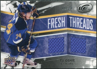 2008/09 Upper Deck Ice Fresh Threads Black Parallel #FTTO T.J. Oshie /25