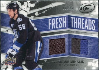 2008/09 Upper Deck Ice Fresh Threads Black Parallel #FTVM Vladimir Mihalik /25