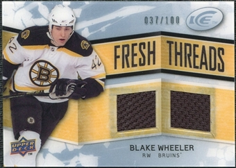 2008/09 Upper Deck Ice Fresh Threads Parallel #FTBW Blake Wheeler /100