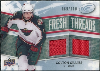2008/09 Upper Deck Ice Fresh Threads Parallel #FTCG Colton Gillies /100