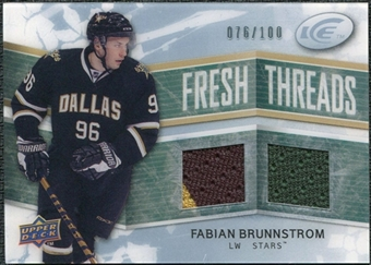 2008/09 Upper Deck Ice Fresh Threads Parallel #FTFB Fabian Brunnstrom /100