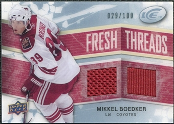 2008/09 Upper Deck Ice Fresh Threads Parallel #FTMB Mikkel Boedker /100